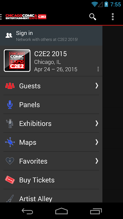C2E2 - screenshot