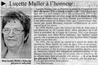 Photo: 14-06-96 Lucette Muller médaillée d'argent du Comité Olympique lorrain