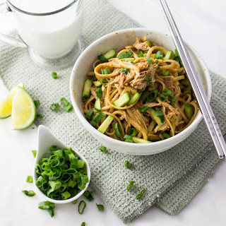 Spicy Peanut Noodles With Shredded Chicken