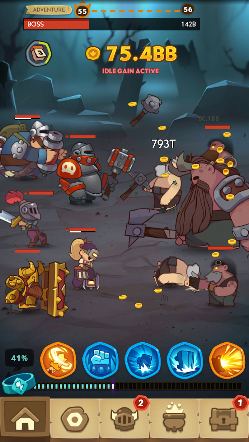 Almost a Hero - RPG Clicker Game with Upgrades Screenshot 5