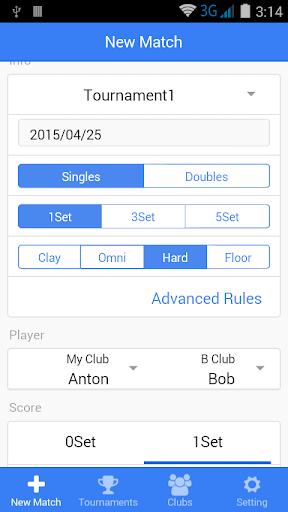 Tennis Match Log