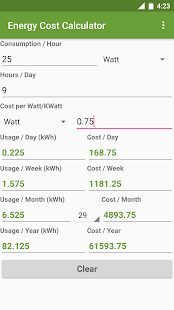 Energy Cost Calculator- screenshot thumbnail