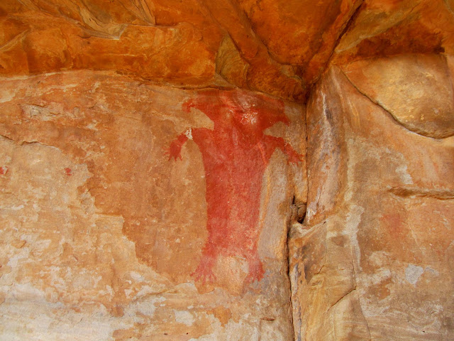 Red Man pictograph