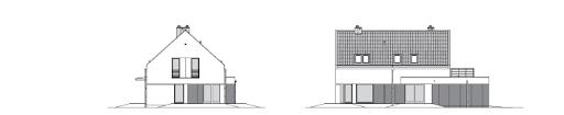 Prosty 3 - Elewacja tylna i boczna
