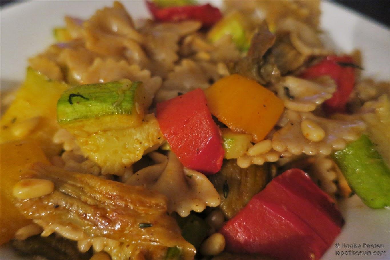 Pasta met geroosterde groentjes (Le petit requin)