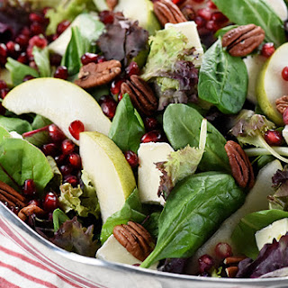 Pomegranate, Pear, Pecan, & Brie Salad ~ AKA, Thanksgiving Salad.