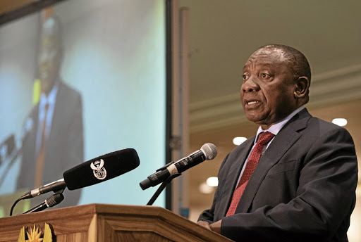 Time to reflect: Deputy President Cyril Ramaphosa delivers the keynote address at the 22nd annual summit of the National Economic Development and Labour Council at Emperors Palace Convention Centre in Kempton Park on Friday. Picture: SUPPLIED