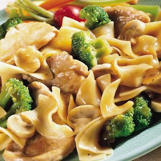 Pork, Broccoli and Noodle Skillet.