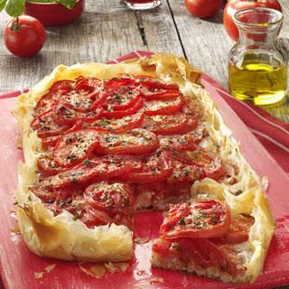 Rustic Tomato Cheese Tart