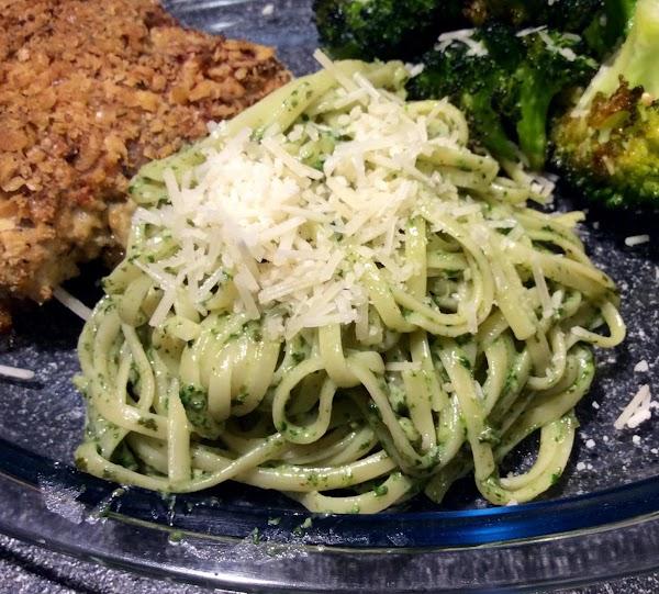 Linguine With Spinach-herb Pesto Recipe