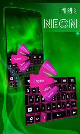 粉红色霓虹灯键盘免费