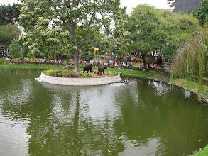 Photo: Gardens along Guayaquil boardwalk (including animatronic pre-historic animal park)