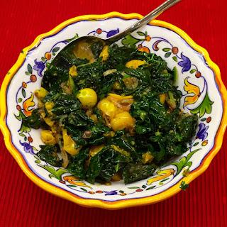 Kale with Golden Gooseberries.