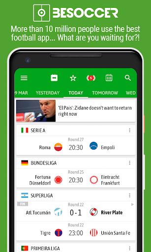 BeSoccer - Soccer Live Score Apk 1