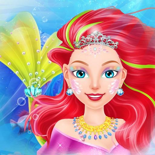 Mermaid Dress up & Makeover - Color by Number Icon