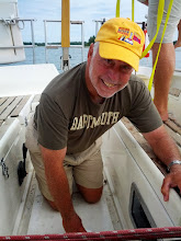 Photo: Bill swabbing the cockpit