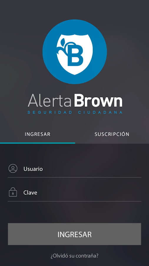 Alerta Brown: captura de pantalla