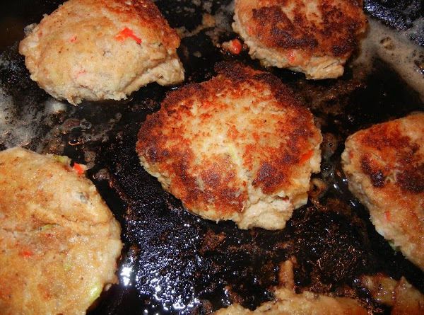 Cook salmon cakes 3-4 minutes per side.