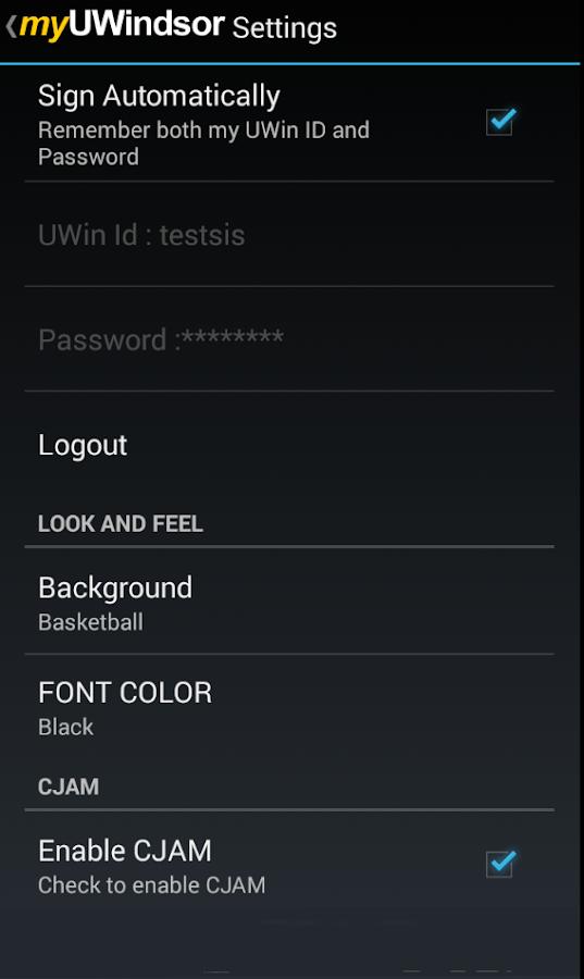 myUWindsor Mobile - screenshot