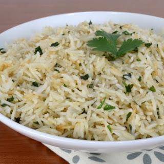 Garlic-Ginger Rice with Cilantro.