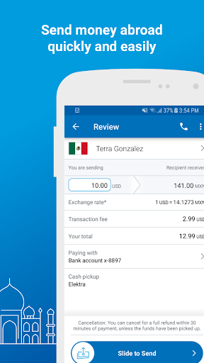 Xoom Money Transfer  screenshots 2