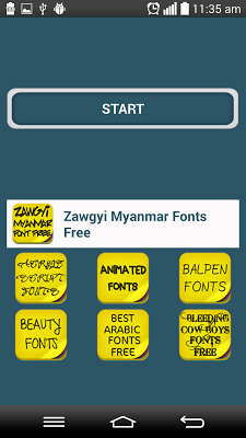 Zawgyi Myanmar Fonts Free - screenshot