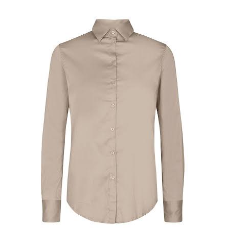 Mos Mosh Martina sustainable shirt light taupe