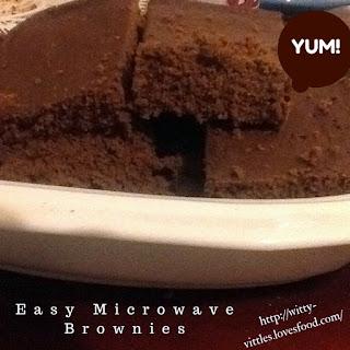 Amazing Microwave Brownies!