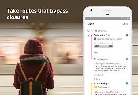 App Yandex.Metro — detailed metro map and route times APK for Windows Phone