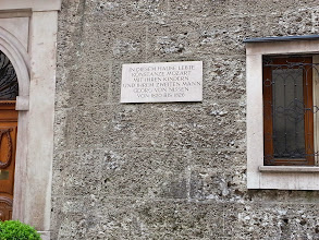 Photo: One of the houses Mozart lived in
