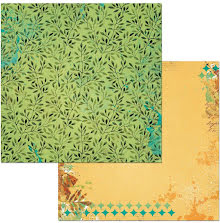 BoBunny Dreams Of Autumn Double-Sided Cardstock 12X12 - Forest UTGÅENDE