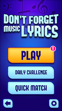 Don't Forget the Lyrics apk screenshot