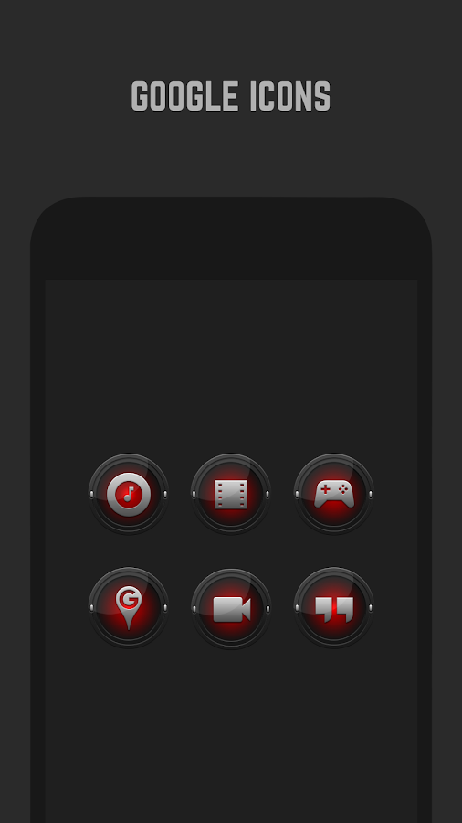 Black and Red Icon Pack- screenshot