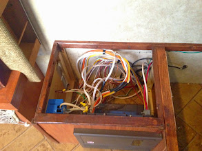 Photo: Dinette Mod:Completed electrical box. Added a vent in case of heat build up.