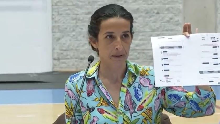 Rueda de prensa de Patricia Ramírez, en una captura del programa Espejo Público.
