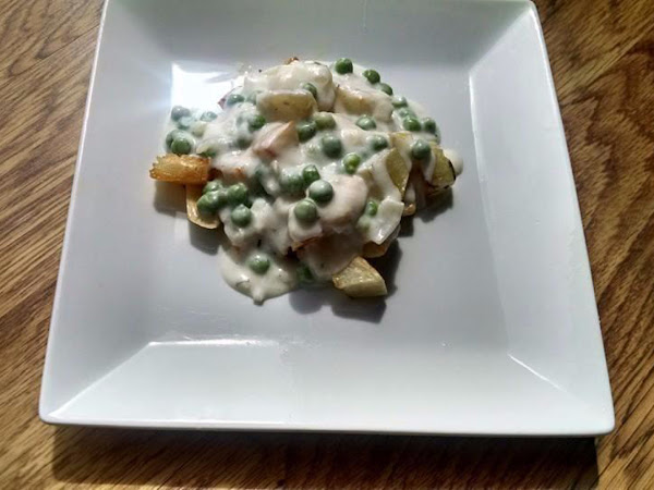 Herb Roasted Potatoes With Creamed Peas Recipe