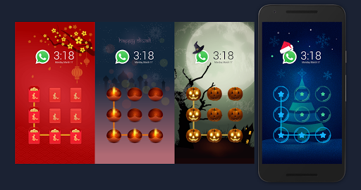 CM AppLock Theme Christmas screenshot 3