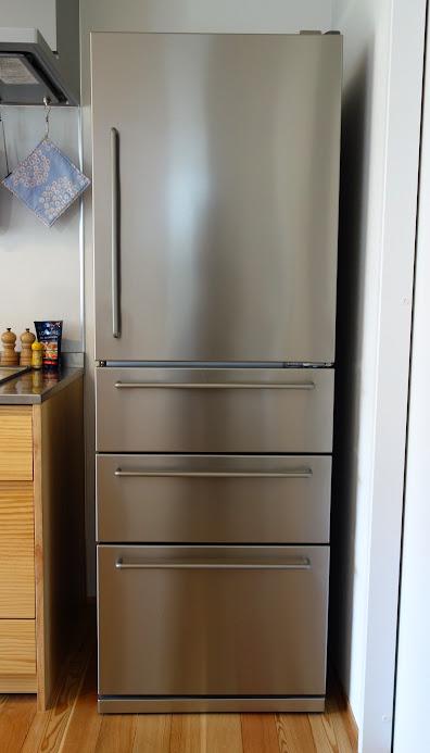 無印良品 ステンレス冷蔵庫 正面