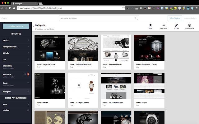 Cookiz screenshot Web