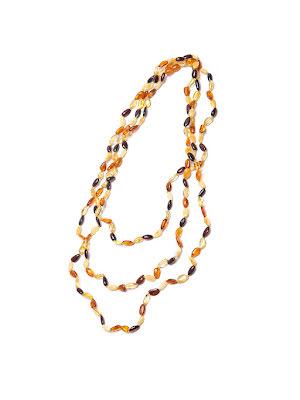 Bärnsten, halsband mix ca 210 cm med lås