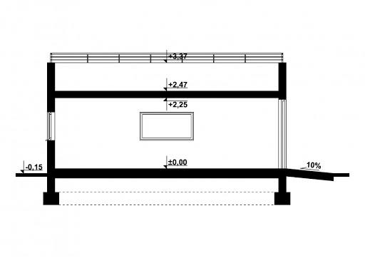 G352 - Budynek garażowo-gospodarczy - Przekrój