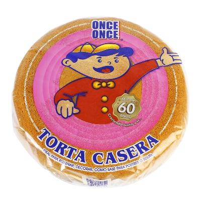 torta once once casera vainilla 600gr
