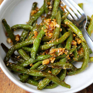 Dry-Fried Green Beans with Garlic Sauce.