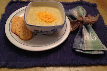 Broccoli-Cheese and Potato Soup