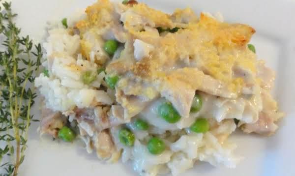 Chicken, Mushroom, And Rice Casserole