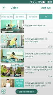 Home yoga practice- screenshot thumbnail