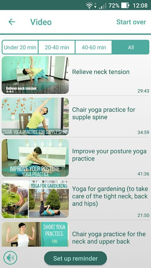 Home yoga practice- screenshot