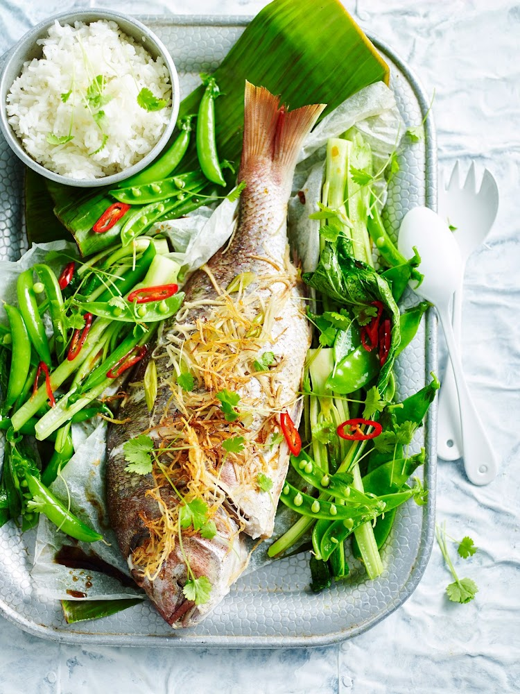 RECIPE | Whole roast fish with ginger and spring onions
