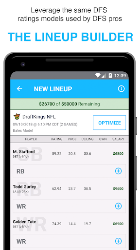 FantasyLabs - DFS Lineup Builder, Props, Articles 2.1 screenshots 1