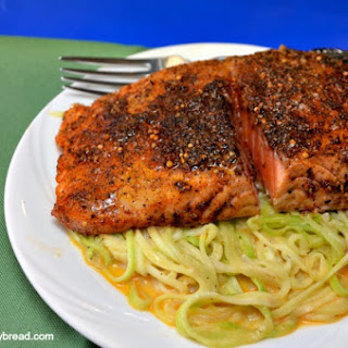 Blackened Salmon Zucchini Pasta